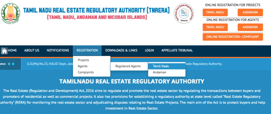 TN RERA for agents