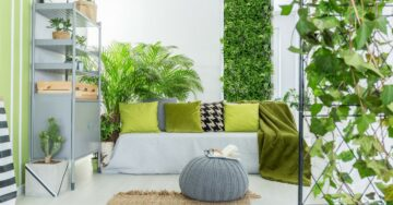 Add greenery to a small space, with vertical gardens