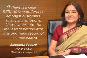 Responsible developers have an advantage in this regulatory climate: Sangeeta Prasad, Mahindra Lifespaces
