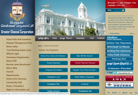 All about property tax in Chennai