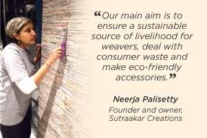 Weaving an eco-friendly future with paper yarn: Neerja Palisetty of Sutraakar Creations