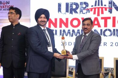 Wave Infratech felicitated for its contribution towards the Swachh Bharat Mission