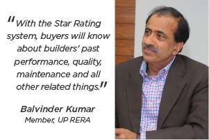 Star rating to be a game-changer for real estate: Balvinder Kumar, member, UP RERA