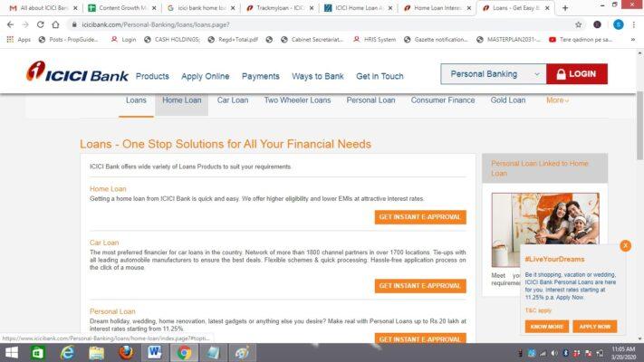 How to check ICICI Bank home loan status
