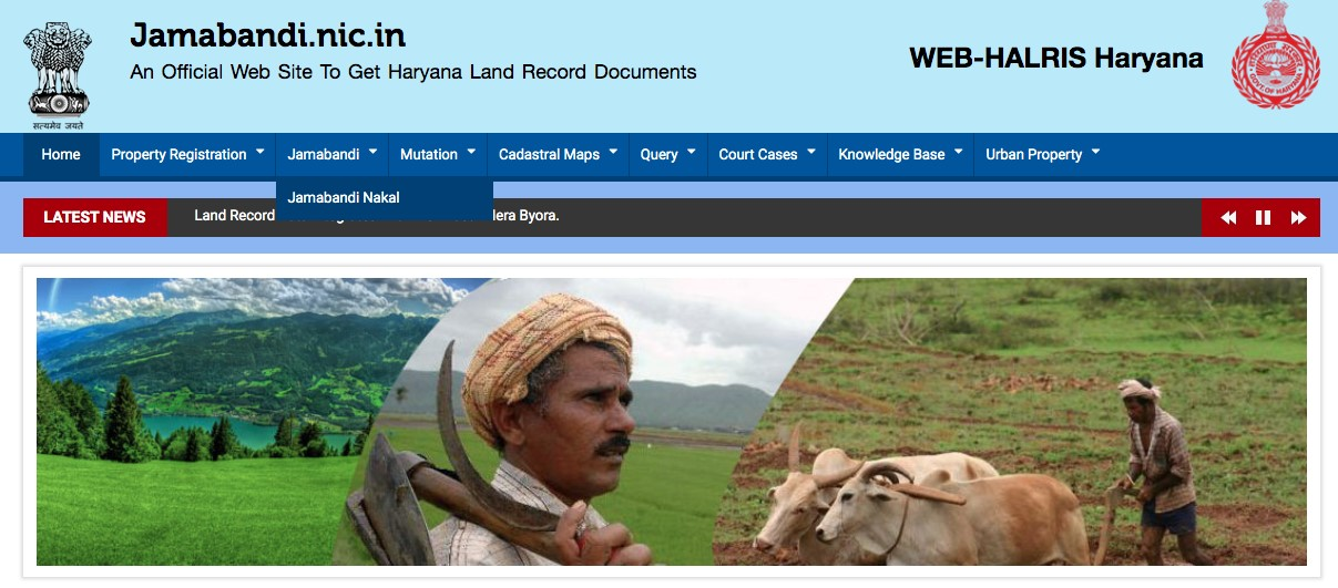 All about Haryana's Jamabandi website and services