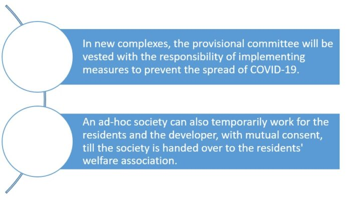 Coronavirus: What should newly-built housing complexes with no society in place do?