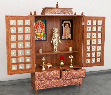 भारतीय घरांसाठी साध्या पूजा कक्ष डिझाइन