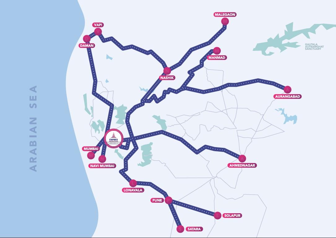 Empire Centrum map