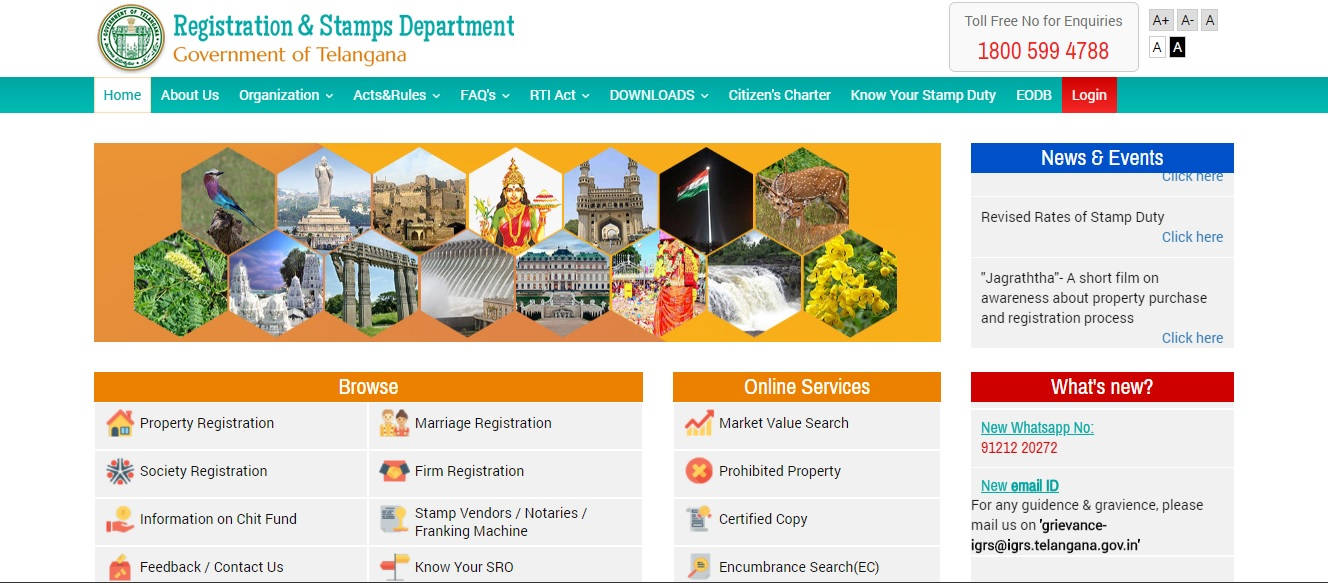 telangana land registration documents online