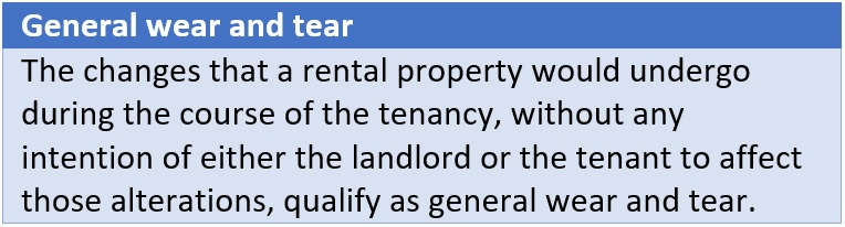 General wear and tear of rental property
