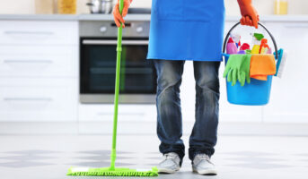 When should you hire professional cleaning services while moving out?