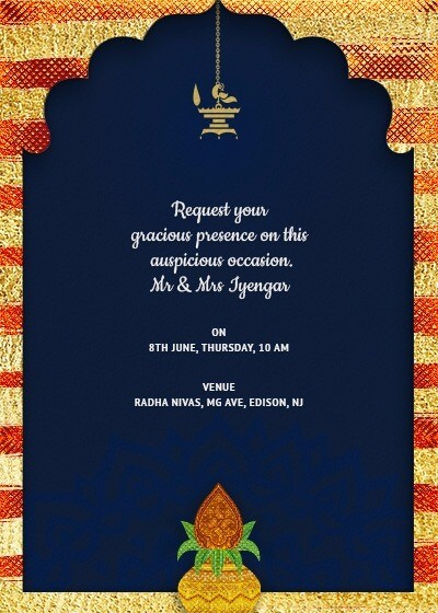 Griha Pravesh invitation card design