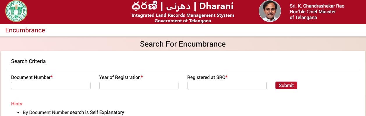 IGRS Telangana Encumbrance certificate