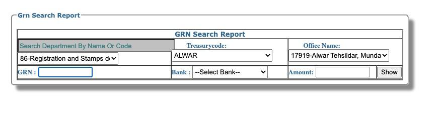 eGRAS Property tax Rajasthan