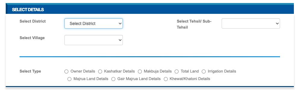 Jamabandi land details