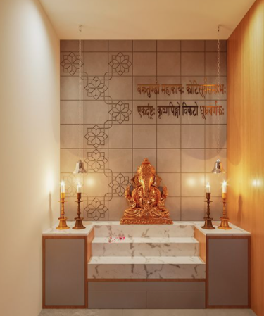 Puja mandir in Indian home