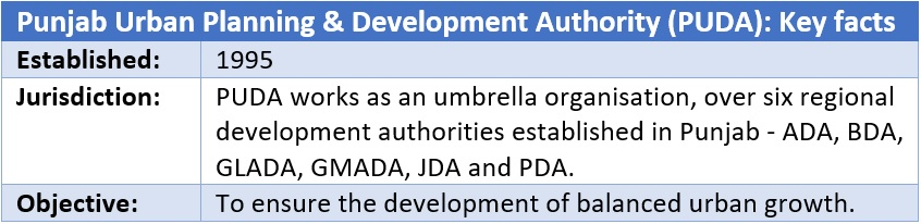 Punjab Urban Planning & Development Authority (PUDA)