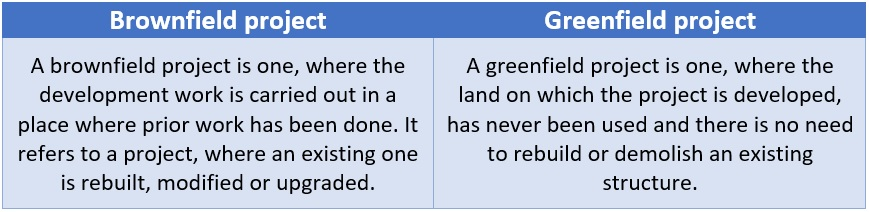 Greenfield vs brownfield project