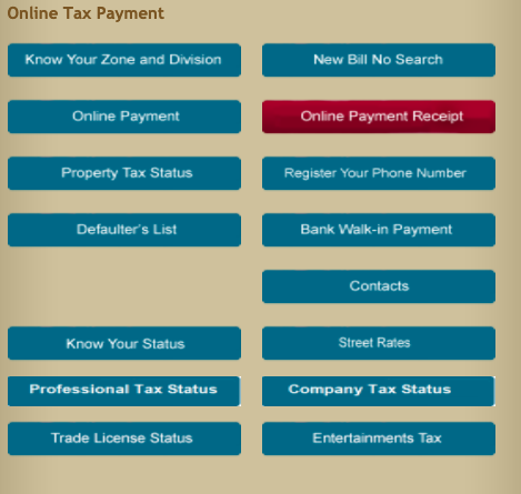 Property Tax receipt Chennai