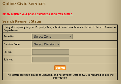 Get Chennai property tax receipt online