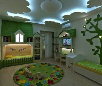 Design ideas for kids' room false ceilings