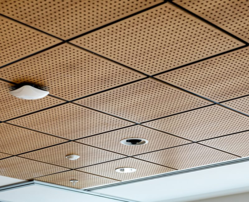 What are dropped, suspended and grid ceilings