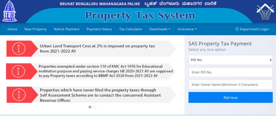 BBMP Property Tax Bill