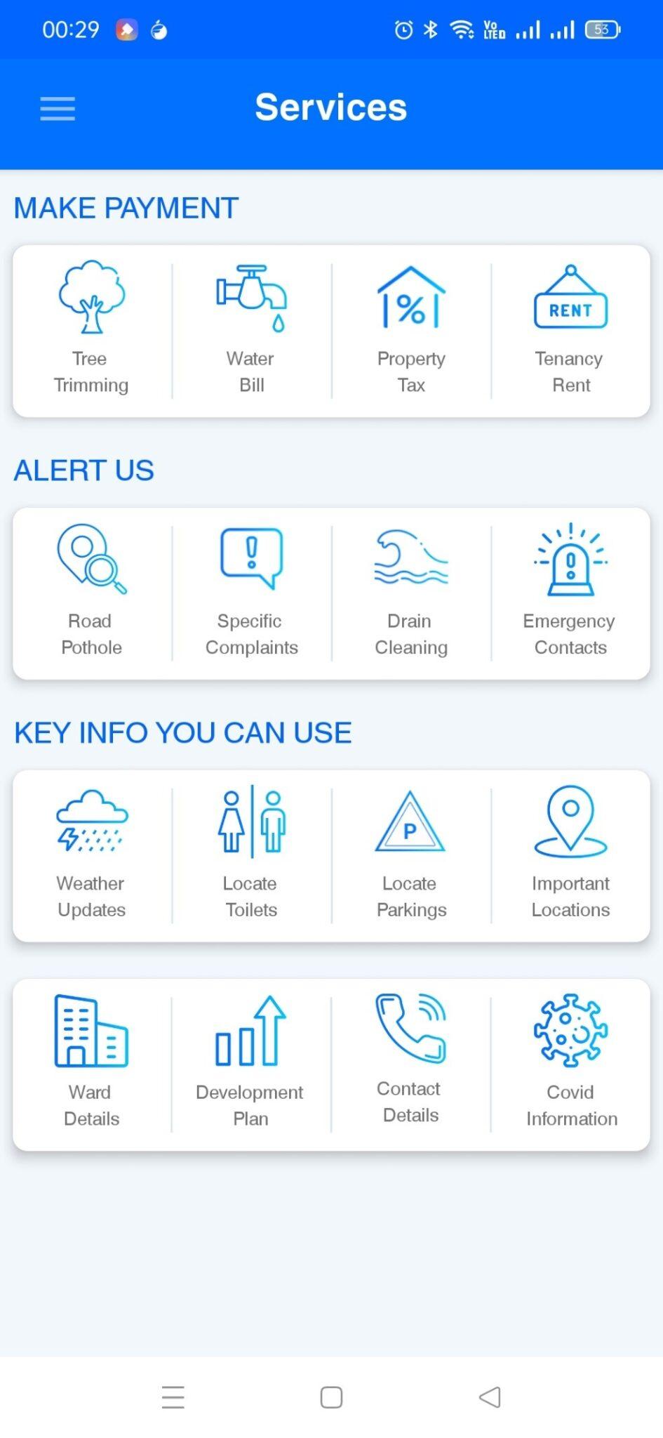 MCGM mobile app
