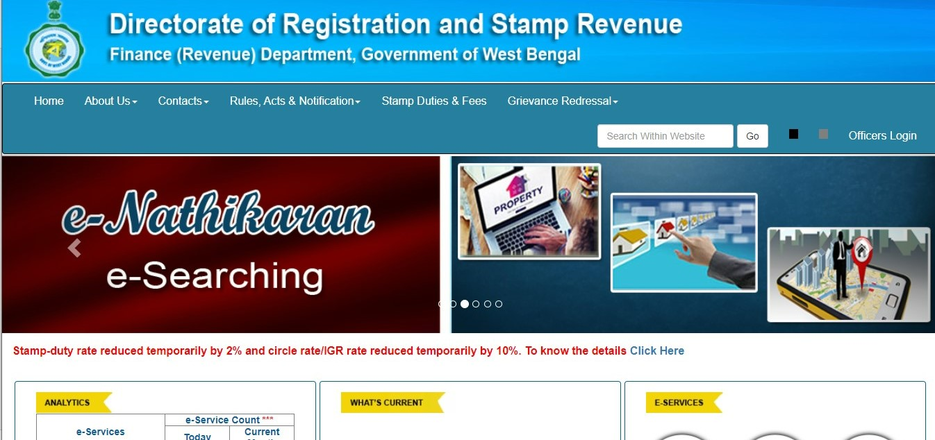 Stamp duty and registration charges in West Bengal