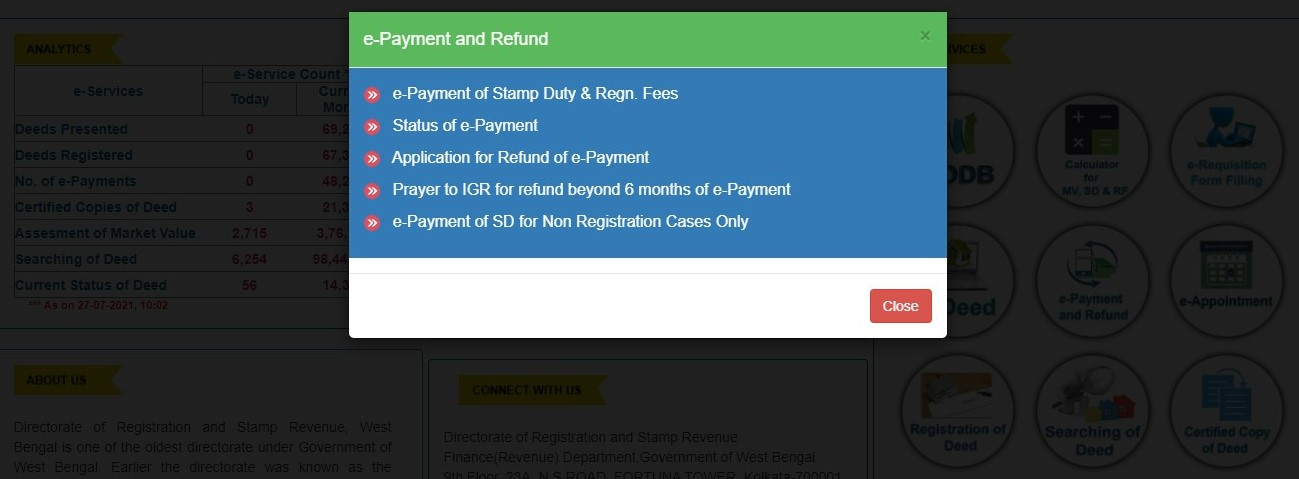 Registration charges West Bengal