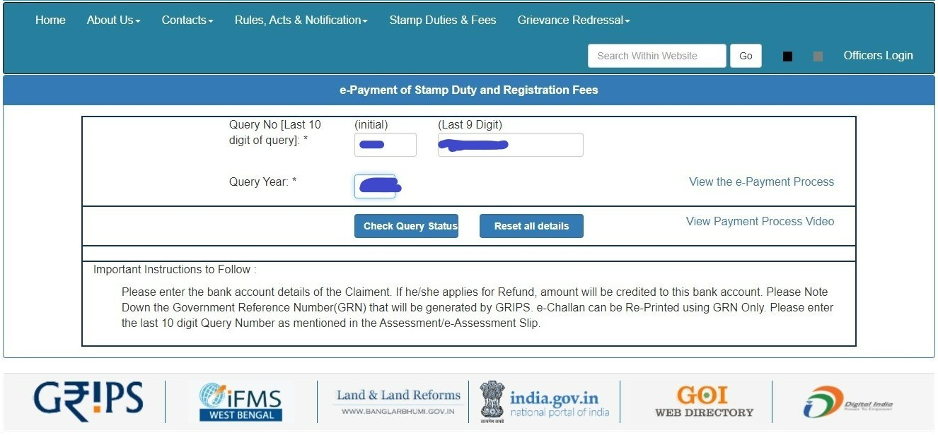 West Bengal registration charges