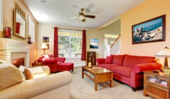 Red colour combinations for home