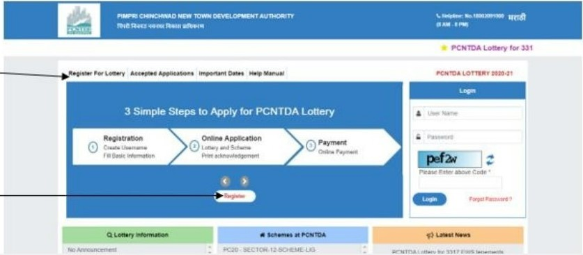 PCNTDA Lottery winners