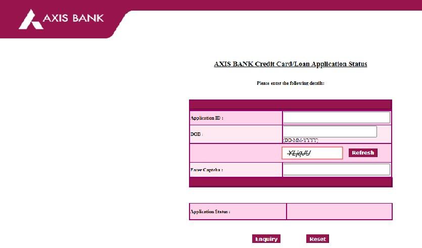 Axis Bank home loan status